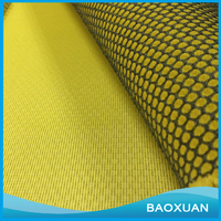 100 Polyester FDY black hexagonal air mesh yellow sandwich mesh fabric for shoes