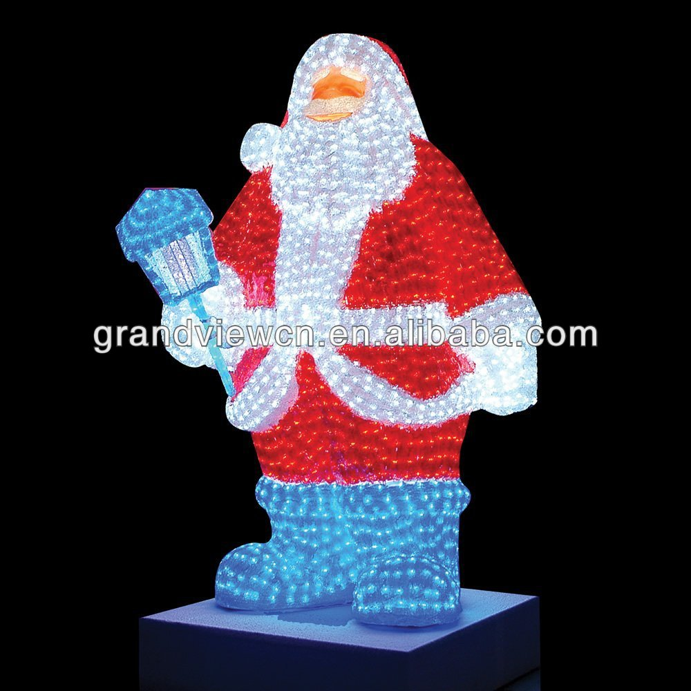 Giant Lighted LED Commercial Grade Santa Claus Christmas Decoration Display
