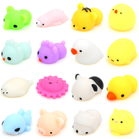 Mini Soft Silicone Squishy Toys Fidget Hand Squeeze Pinch Toy Cell Phone Accessories cute animals design