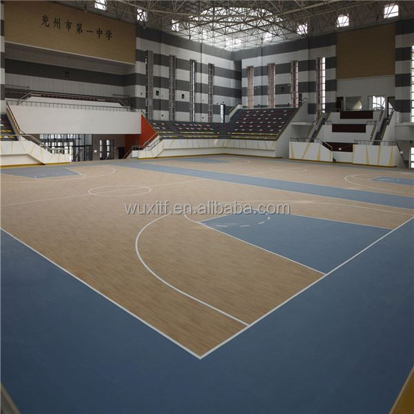 2016 new hot fashion sound proof portable athletic pvc basketball flooring in stock