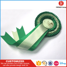 Horse Competition Ceremony Festival Exhibition Show Promotion Satin Round Ribbon Rosette Badge