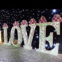 wholesale PVC large Love LED Light up letters sign for wedding decoration