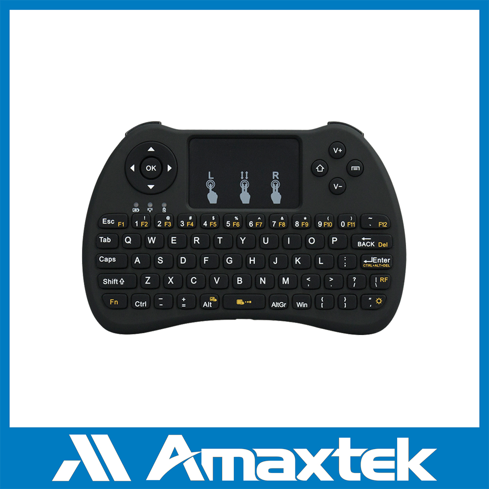 Slim 2.4GHz Portable Mini Wireless Keyboard with Touchpad Mouse