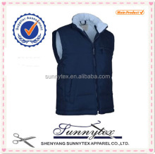 Wholesale Winter Work Uniforms sleeveless winter padded vest mens