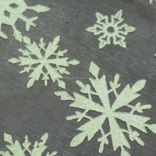 Hometextile snowflake pattern embroidered nylon organza fabric