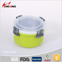 800ml Bright green airtight stainless steel food containers with lid