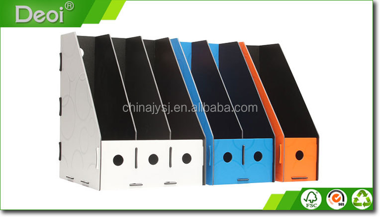 Hot sale color plastic office file rack hard cover pp rack