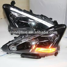 2013-2014 Year Teana Nissan Altima LED Head Lights with Bi Xenon Projector Lens for NISSAN TLZ