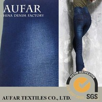 Aufar denim cotton fabric 2014 Siro spinning hot selling skinny jean,new arrival cotton women 10OZ