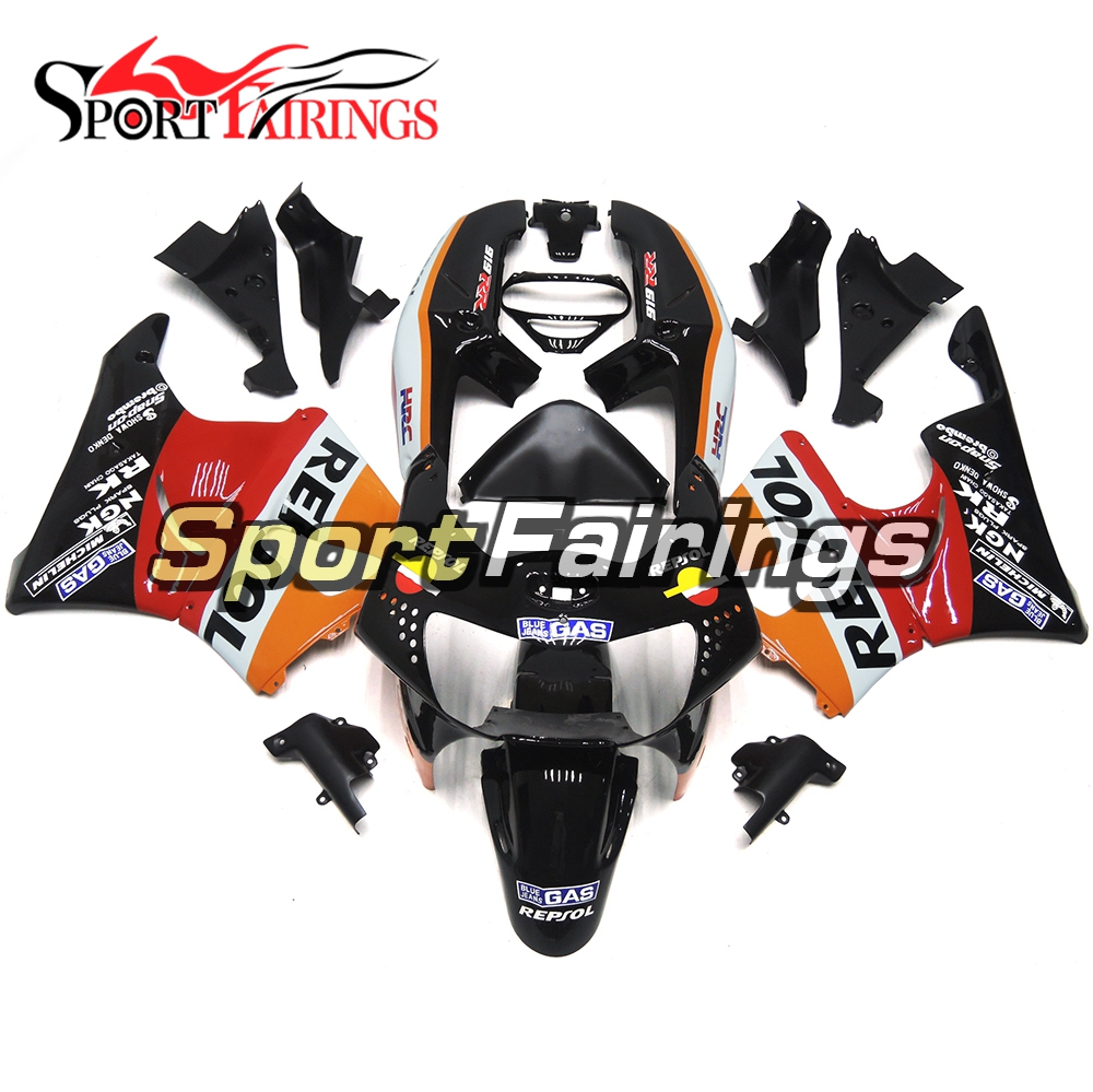 Motorcycle Orange Red Black ABS Plastic Full Fairing Kits For Honda CBR900RR 919 98-99 Year CBR919RR 1998 1999 Cowlings Panels