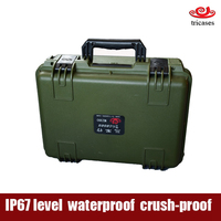 Shanghai oem manufacturer IP67 protection rugged waterproof plastic tool case for military and police