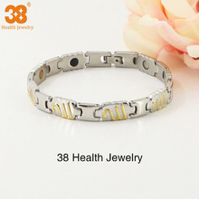 High popular silver gold plated 316l stainless steel charm bracelet men, chain bracelet jewelry