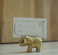 wedding favor --party favors Lucky Golden Elephant Place name Card Holder table Decoration