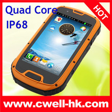 4.3 Inch android smart phone IP68 ALPS S09 Waterproof Quad Core Android 4.2 Smart Phone