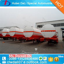 3 Axles 45000 Liters Fuel Tanker Mobile Fuel Trailers With 12R22.5 12pcs Triangle Brand