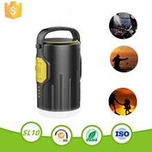 New release 2017 fireproof bluetooth speaker camping lantern power bank for Charge mobile phone