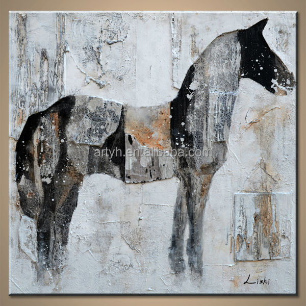 Wholesales Modern Abstract Horse Painting Canvas For Home