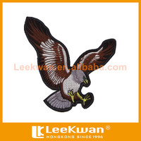 vivid eagle pattern embroidery patch
