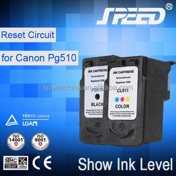 Replacement for canon PG510xl and CL511xl ink cartridge with new quality chip used in IP2700 MP250 MP270 MX320 MX420