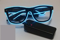 glow glasses Colorful LED Neon Glowing Light EL Wire Party Glasses for Gift Items