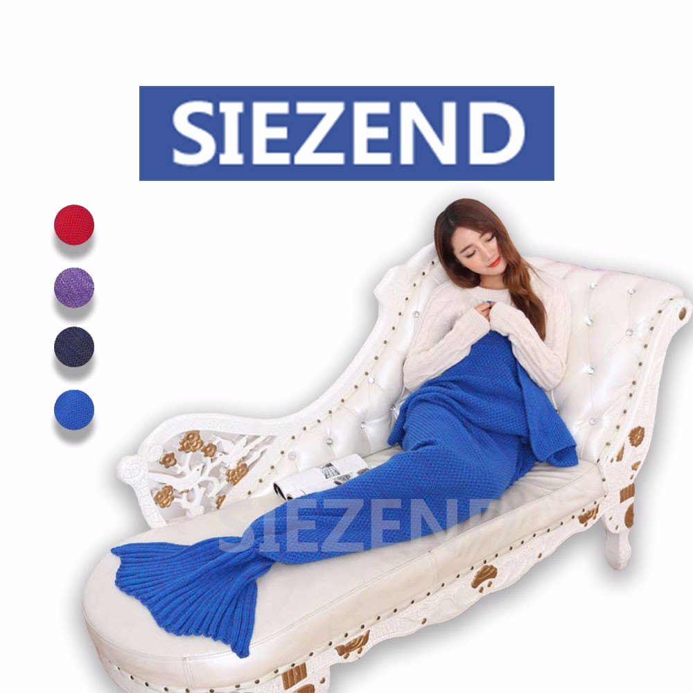 11.11 Global Sourcing Festival Popular Knitted Mermaid Tail Blanket