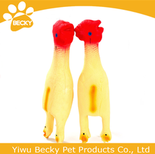 Factory Sale Promotion Pet Chew Toys Screaming Chicken Latex Dog Toys