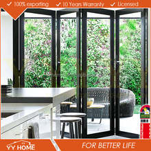 Double glazing high quality AS Standard manufacture aluminum bi fold screen door