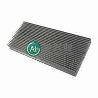 white anodizing aluminium heat sink profile extrusion SH036