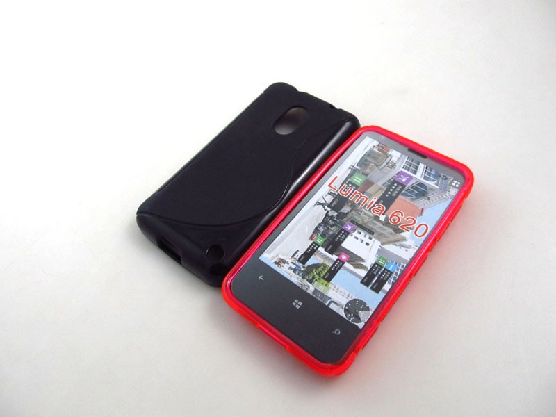 100% Fit Hot sell S Line TPU Gel silicon Cover Case for Nokia lumia 620