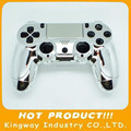 Replacment Chrome Controller Shell For PS4 Joypad Housing Case Silver