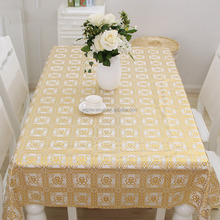 Wholesale Oilproof Lace flower coating PVC tablecloth