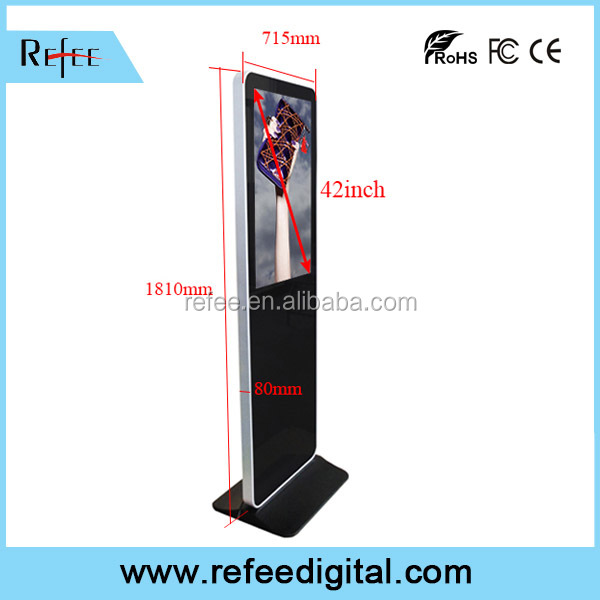 Ipad style free standing Touch screen kiosk, Android with wifi LCD media player