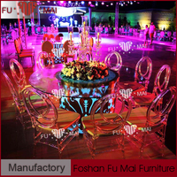 china supplier led furniture glowing led illuminated furniture round glass table