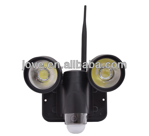 wifi cctv camera with sony ccd with led floodlight high quality 100% original factory