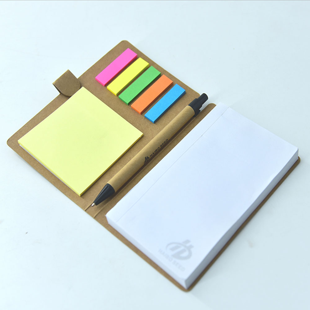 Kraft Cover Sticky Notes and A5 Notepad