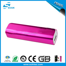 new style perfume metal power bank 2600mAh charger for mobile