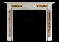 French style villa used modern design fireplace mantel