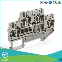 UTL Din Rail Terminals Spring Cage Clamping Wiring Terminal Block Connector 0.5-6mm