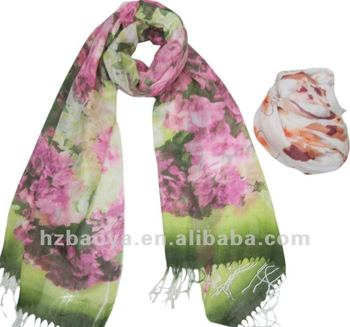 New spring European fashion Acrylic printed Cheap Scarves