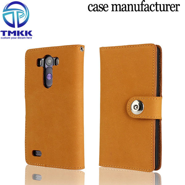 For LG G3 Cell Phone Flip Case Genuine Leather Cover G3001