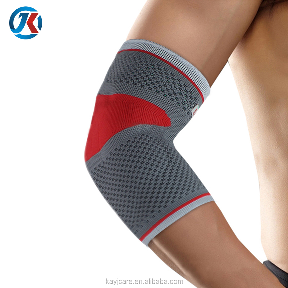 Hot new products for 2018 tennis golf pain elbow brace silicone buttress protector