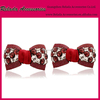 WINE RED COLOR Bow Flower For
