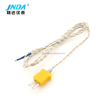 Factory custom high performance k type thermocouple with yellow plug