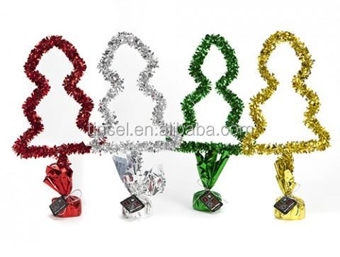 Christmas tree tinsel table centerpiece decoration