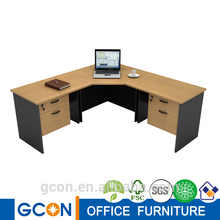 Laminated furniture Modern wood office executive L desk