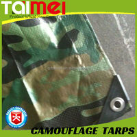 135gsm Camo Tarps China Manufactured Waterproof PE Plastic Camouflage Tarpaulin for covering
