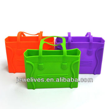 Newest design fashion candy color jelly silicone bag handbags