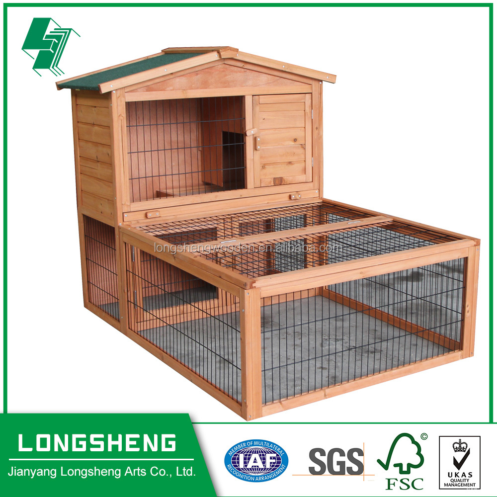 Outdoor house for pets in wood