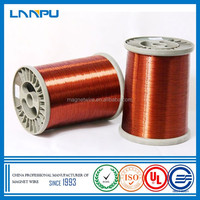 Modified Polyester Enamel AWG Insulated Copper Enameled Winding Wire for Motors