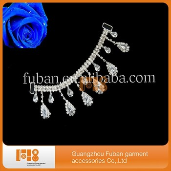 wholesale crystal rhinestone bikini connector for headband / competition posing bikini